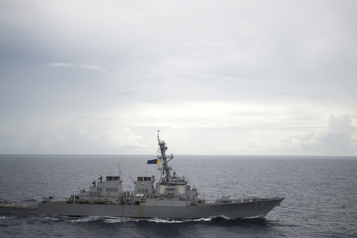 The USS Decatur was recently forced by the Chinese navy vessel Lanzhou to take evasive action to avoid a collision in the South China Sea. Photo: AFP