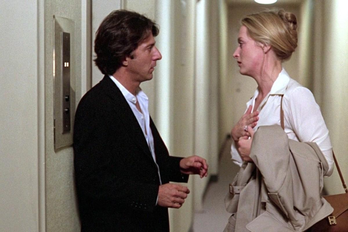 Dustin Hoffman and Meryl Streep in a still from Kramer vs. Kramer (1979).