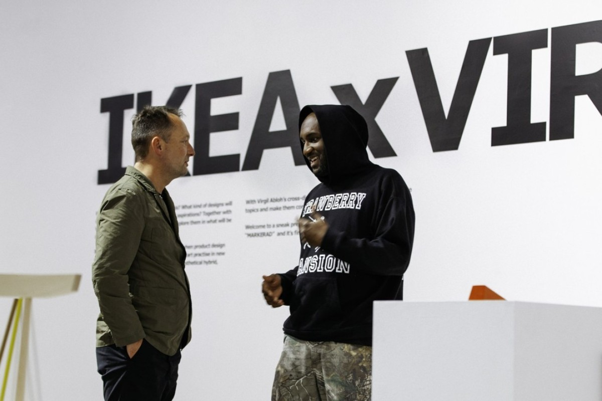 Virgil Abloh (right) and Henrik Most, creative leader for the upcoming Ikea x Virgil collection