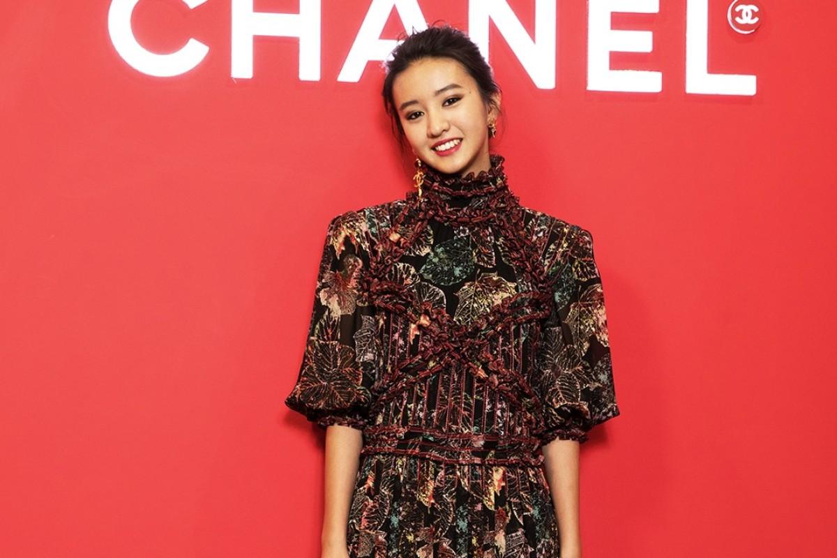Japanese model Kōki, 15, attends the Chanel beauty pop-up event.