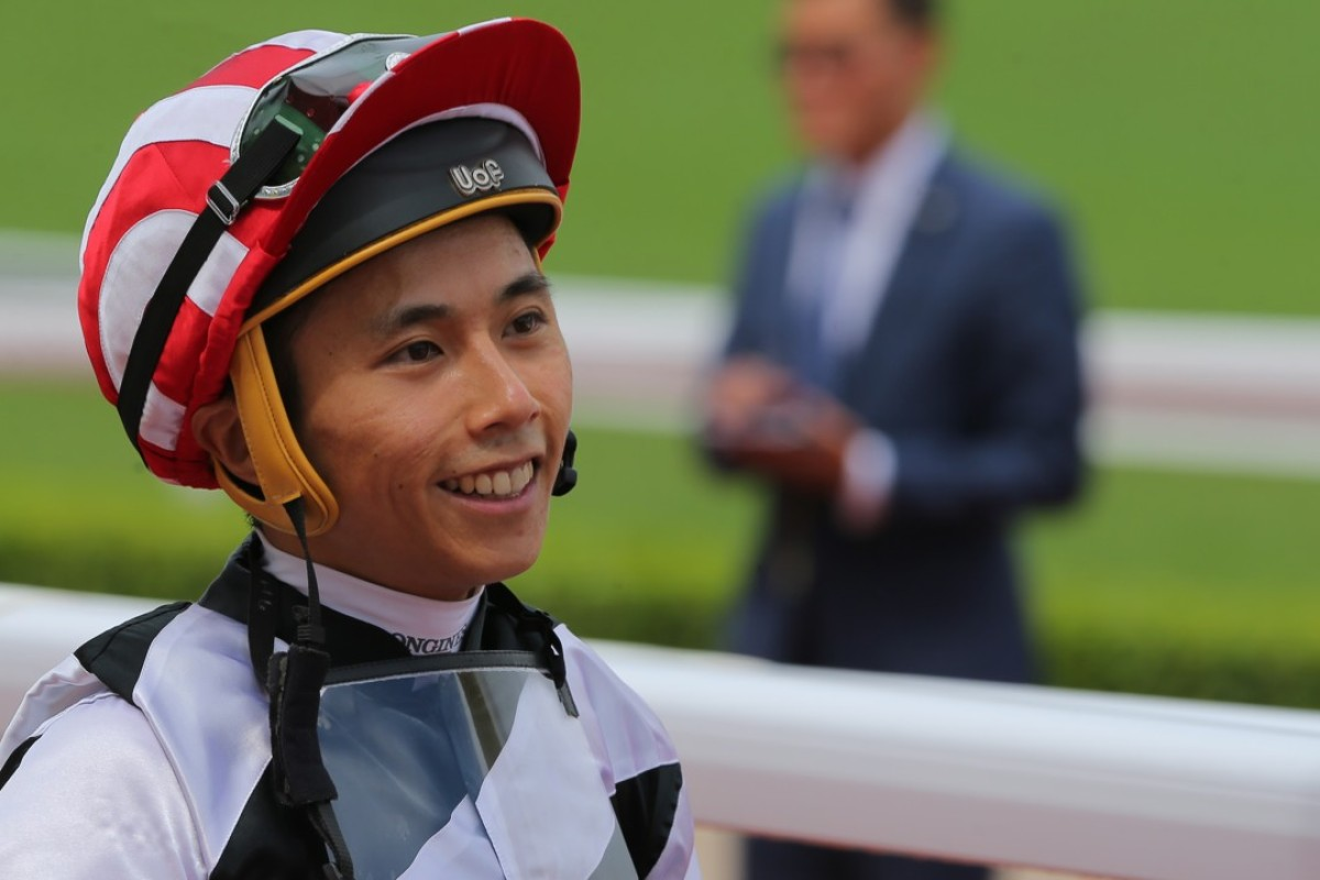 Matthew Poon returns to scale after another winner. Photos: Kenneth Chan