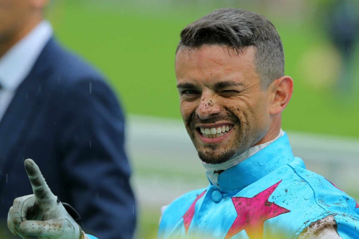 Umberto Rispoli is all smiles after riding a winner last season. Photos: Kenneth Chan
