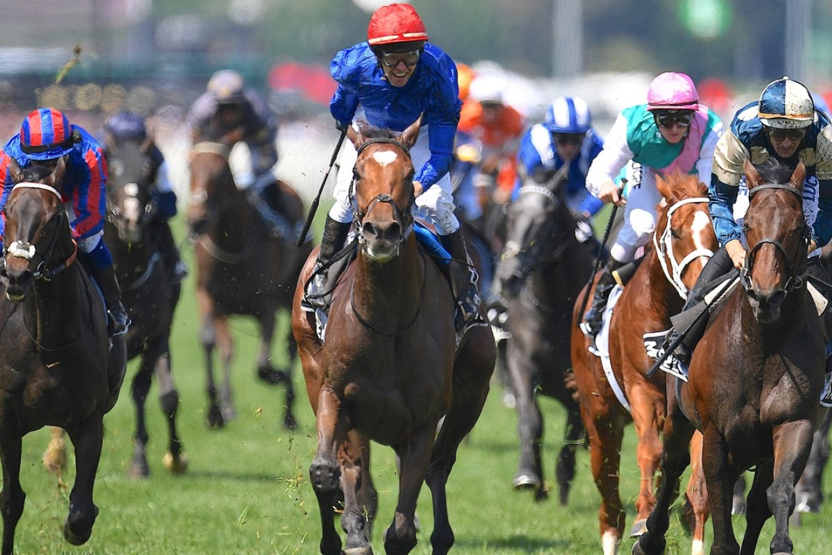Kerrin McEvoy wins the Melbourne Cup on Cross Counter. Photo: Reuters