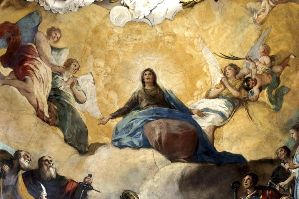 A Goya fresco in the Basilica of Our Lady of the Pillar, in Zaragoza, Spain. Picture: courtesy of Zaragoza Turismo