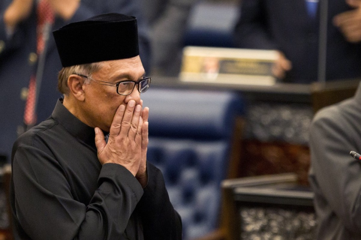 Malaysian politician Anwar Ibrahim in parliament. Photo: AP
