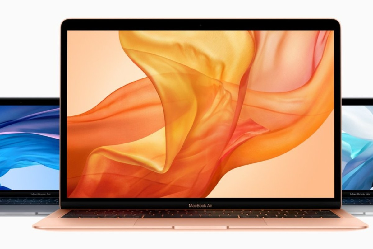 The impressive new MacBook Air – the first redesign for the models in years – is available in three different colours – 'Space Grey' (left), gold (centre) and silver. Photo: Apple