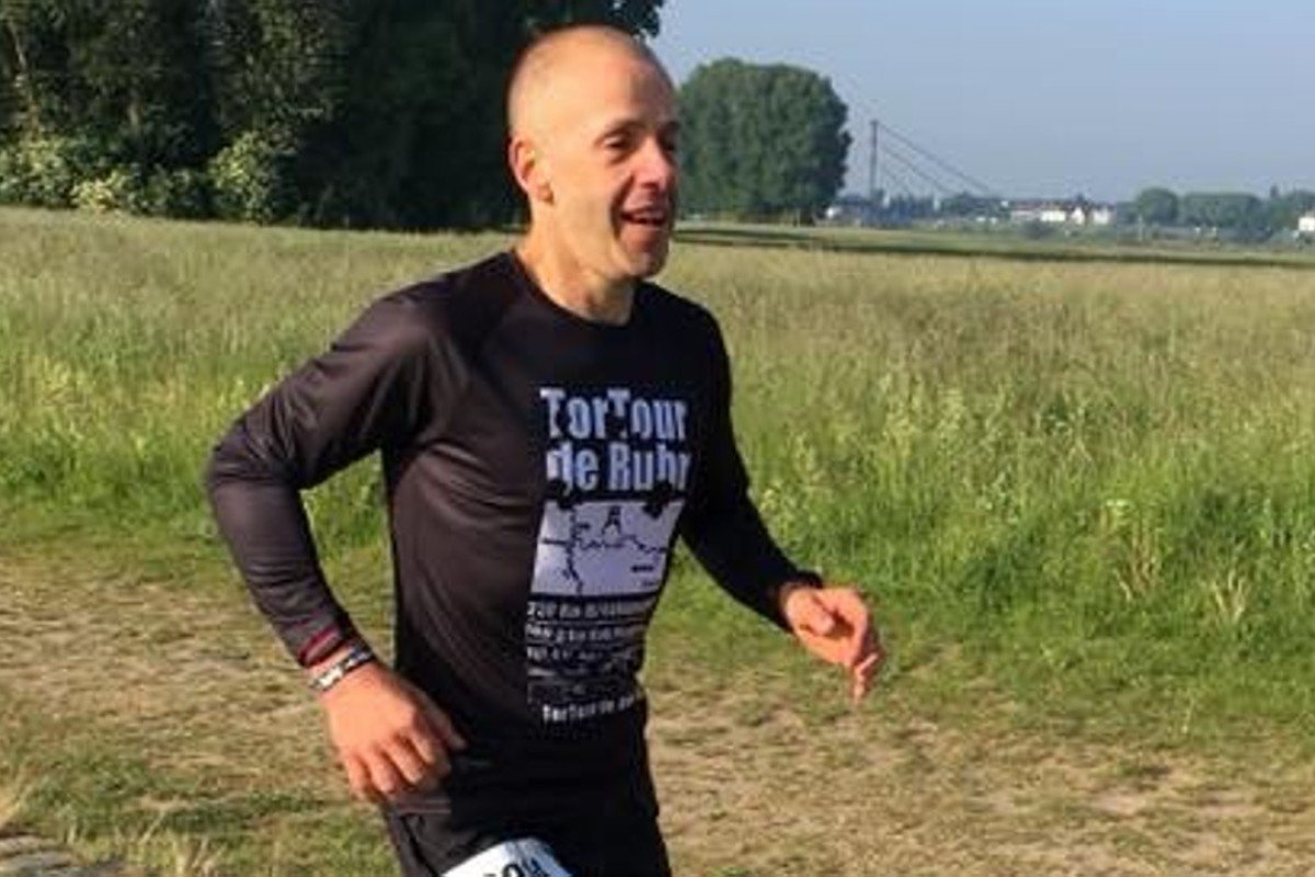 Approaching the finish of the 230km TorTour de Ruhr ultramarathon, Andre Blumberg says it is his proudest achievement of a jam-packed year. Photo: Jens Witzel