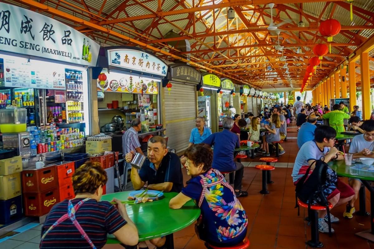 The Lau Pa Sat hawker centre, in Singapore. Picture: Alalmy