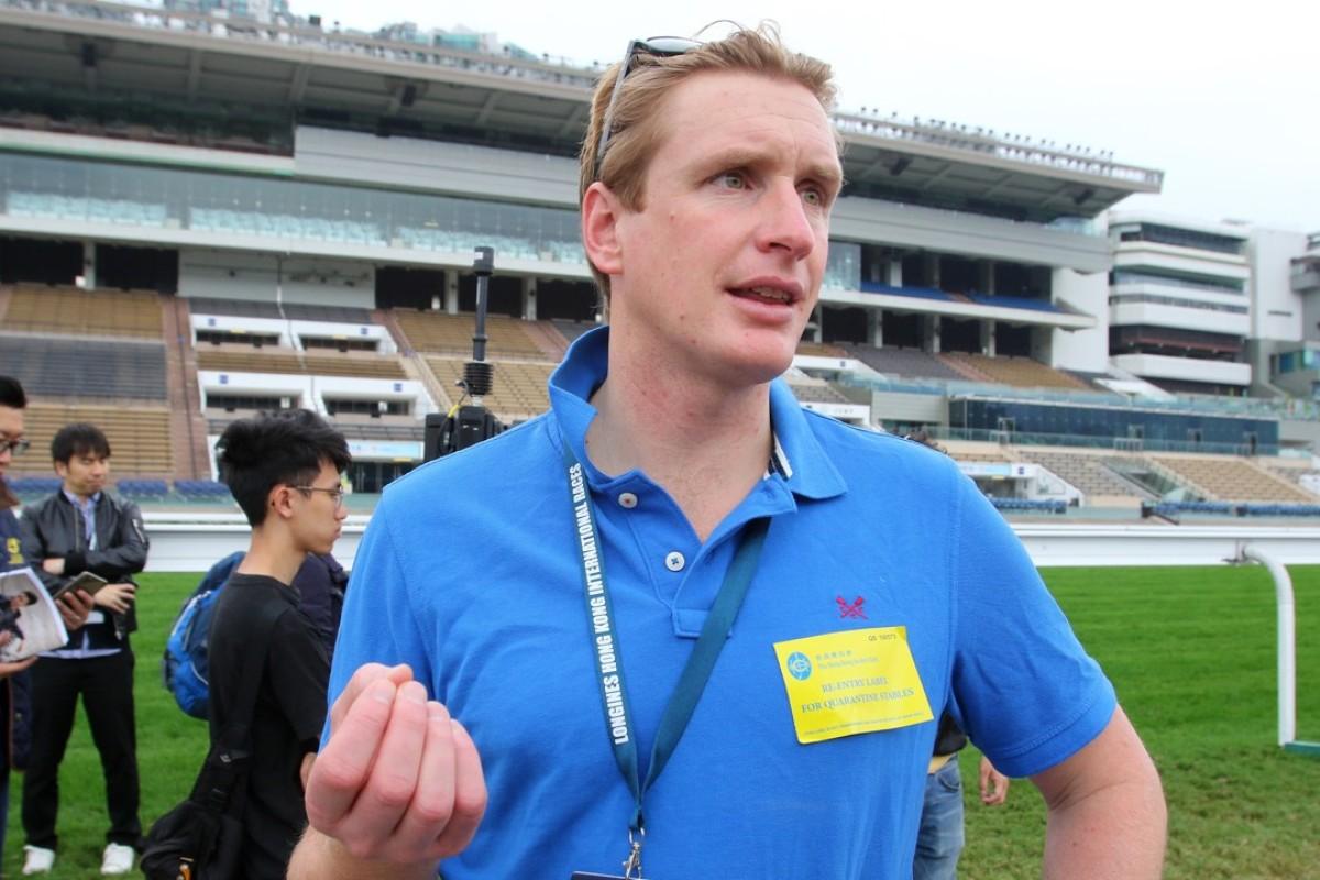 Trainer Ed Walker talks to the media at Sha Tin. Photos: Kenneth Chan