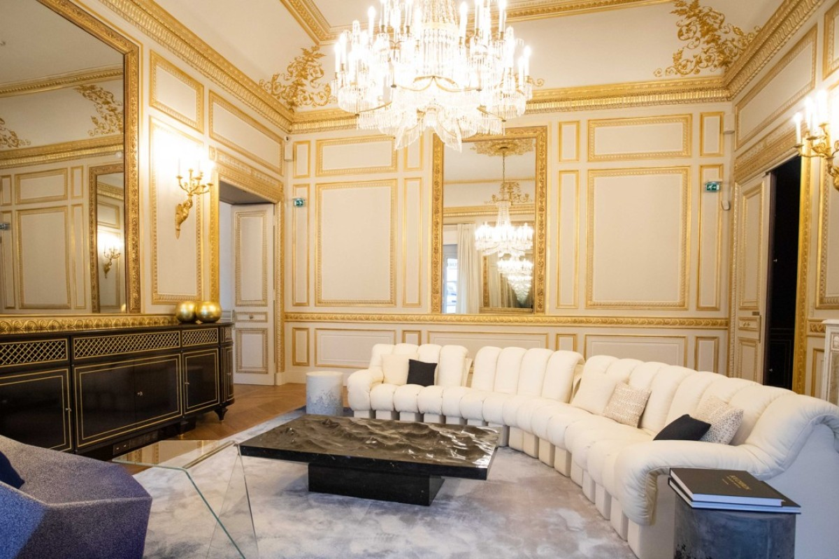 Furniture in a VIP guest suite, operated by the Paris Ritz, inside the renovated Boucheron luxury jewellery store in Place Vendôme Square in Paris. Photo: Christophe Morin/Bloomberg