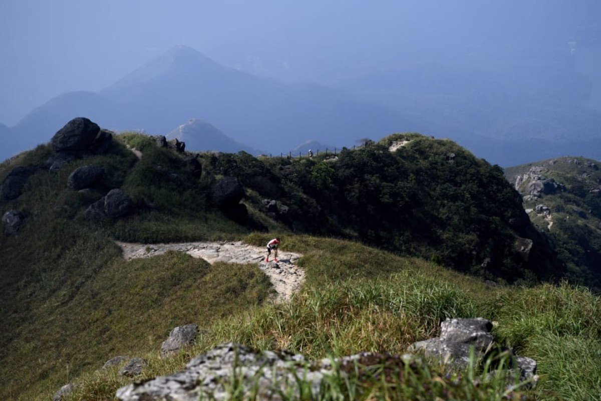 One of the runners takes on the Lantau Vertical. Photo: Handout