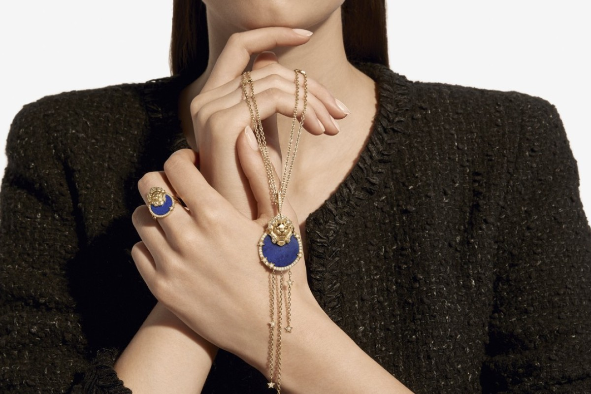 Chanel's Sous Le Signe Du Lion jewellery collection, including bracelets, necklaces and rings, has been inspired by founder 'Coco' Chanel's love of cats.
