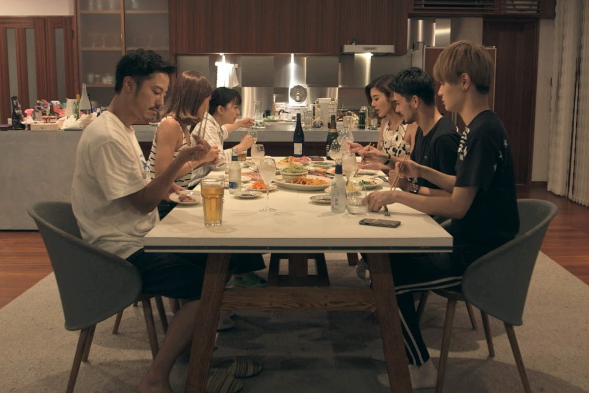 The cast members of Terrace House: Opening New Doors sit down to dinner. Picture: Netflix