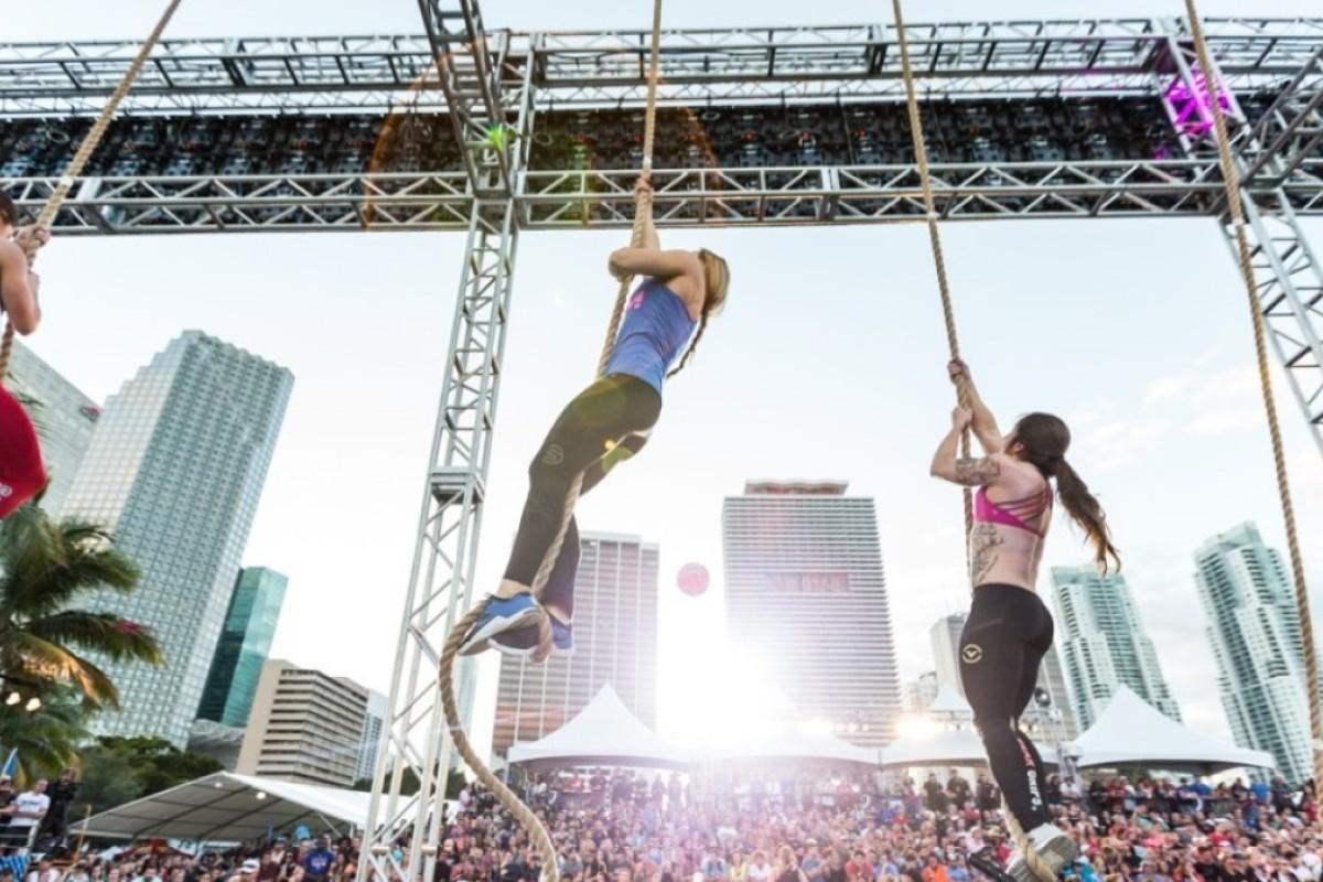 Athletes climb the ropes at Wodapalooza. Photos: CrossFit Games