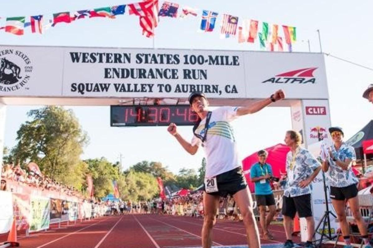 Hoka One One's athlete Jim Walmsley set's the Western States record. Photo: Hoka One One