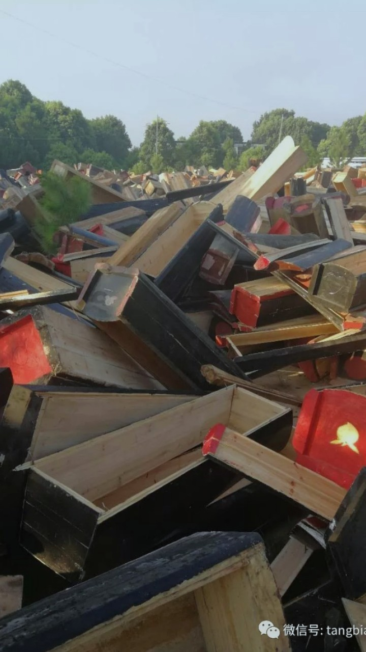 Destroyed to save land, China's coffins are resting in pieces