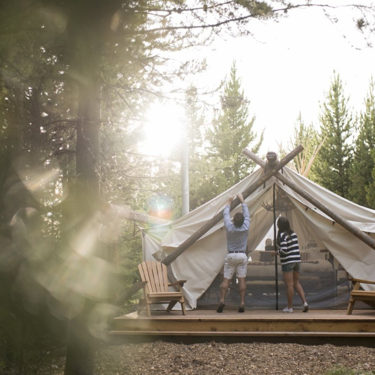 Are luxury camping - or 'glamping' - retreats the future of