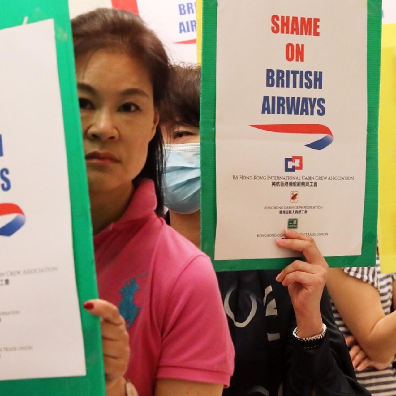 British Airways' senior managers and sacked Hong Kong