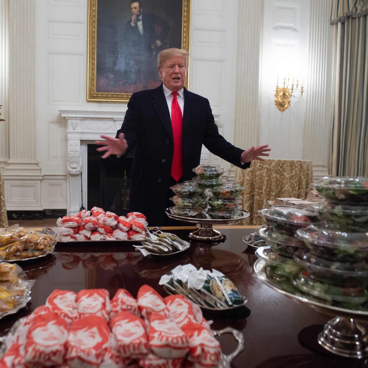 Fast food fan Donald Trump foots bill for burger feast as