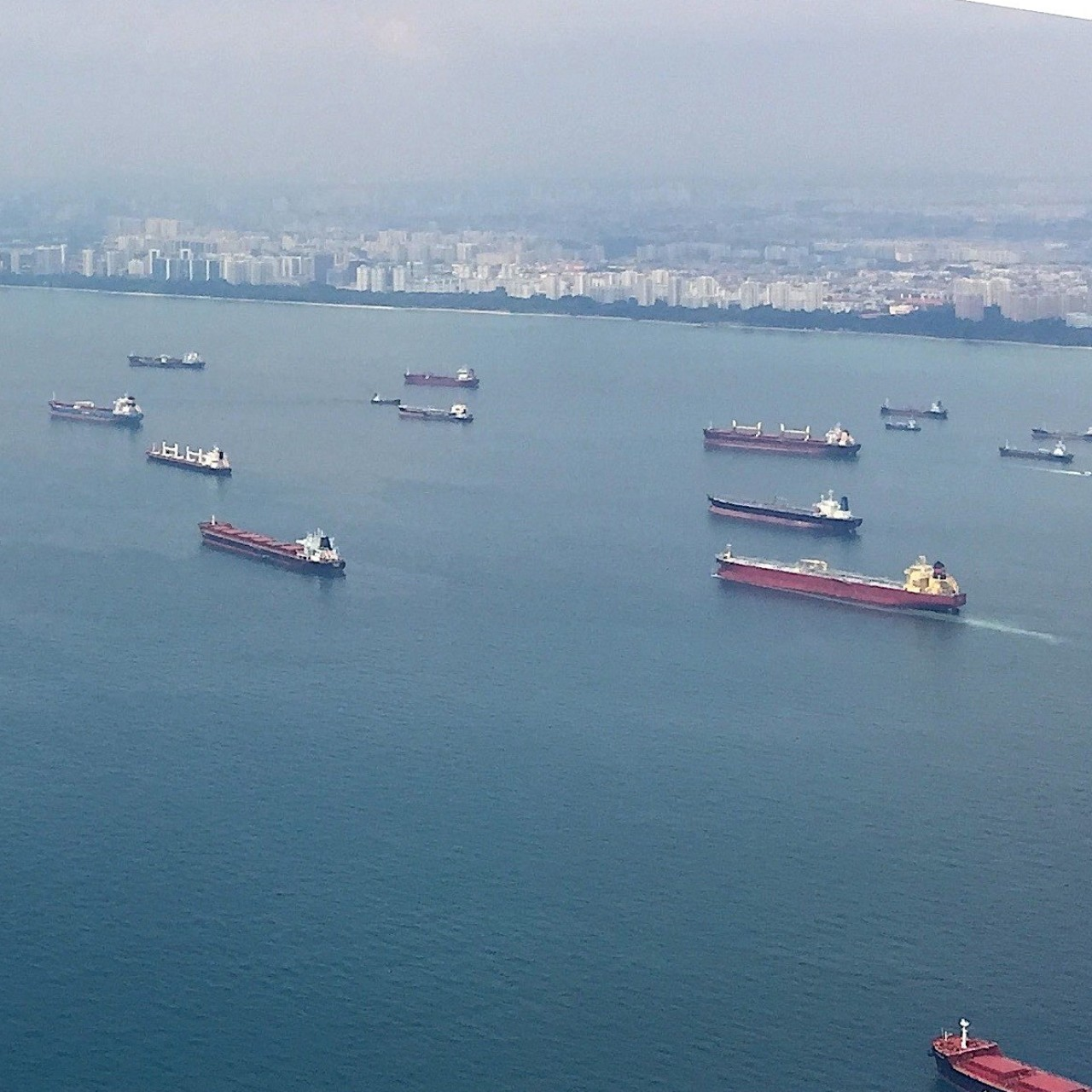 What a Singapore Strait traffic jam says about the world