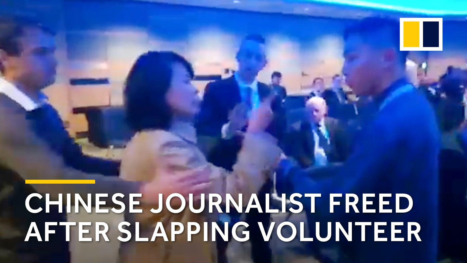 Chinese journalist arrested after slapping volunteer at